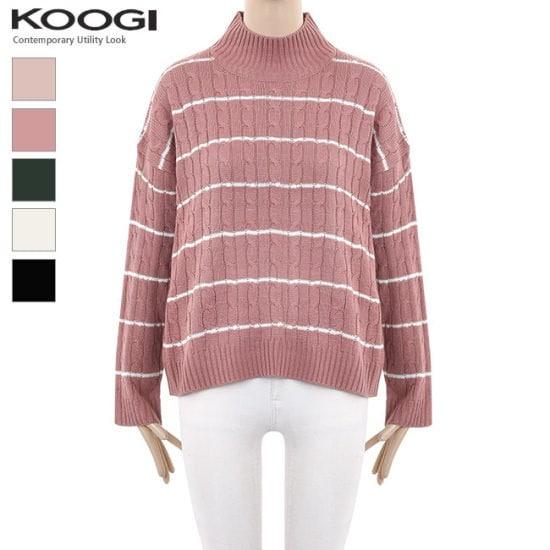 釘宮ダンカラバンポルラニトゥKK4KN4100A ニット/セーター/タートルネック/ポーラーニット/韓国ファッション