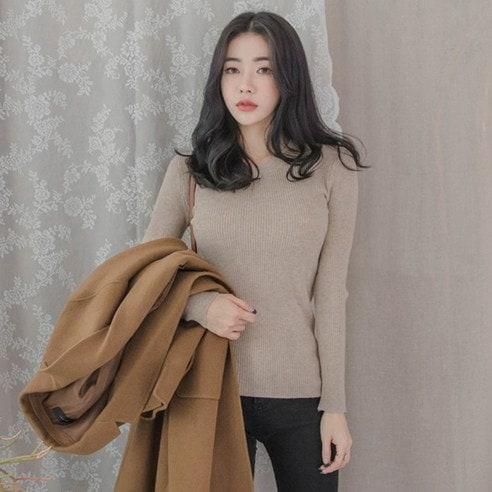 【WhiteFox]デイリーチョンチョン段ボールニットシャツkorea fashion style free shipping
