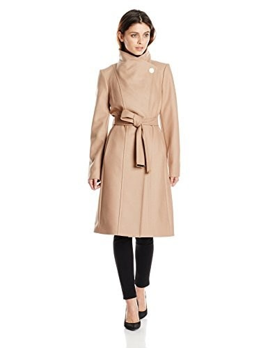 Ted Baker Womens Lorili Long Button Detail Wrap Coat, Taupe, 2