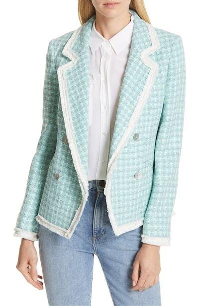 ヘレンベーマン レディース ジャケット・ブルゾン アウター Helene Berman Fringe Trim Tweed Jacket