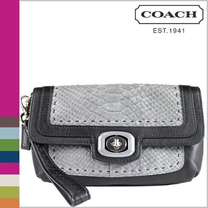 コーチ COACH 財布 ポーチ F47158 ブラック マルチカラー レディース