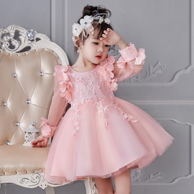 12e451a5bf8f8 女の子 長袖 子供ワンピース ピアノ発表会 子供ドレス 子供服 キッズドレス 結婚式 フォーマル