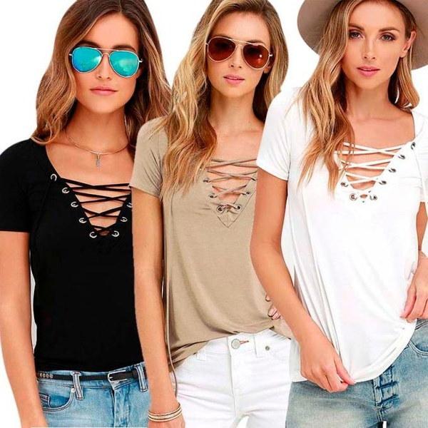 2016ホットセールファッションレディースルーズプルオーバーTシャツ半袖トップスシャツブラウス