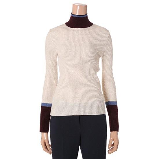 ナイスクルラプトゥレンディした配色ニートN174KSK035 パターンニット/ニット/セーター/韓国ファッション