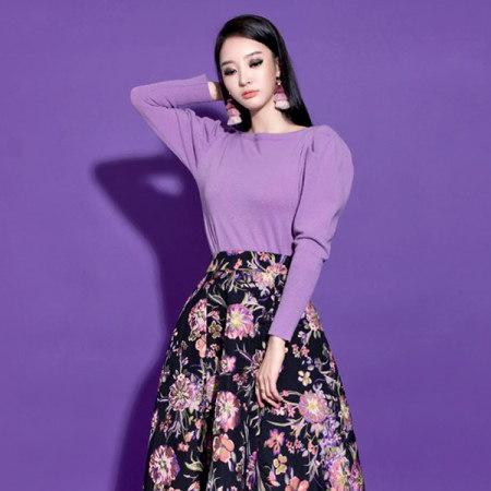 [ディントゥ] E-4266レムスウルパフラインニットトップkorea fashion style