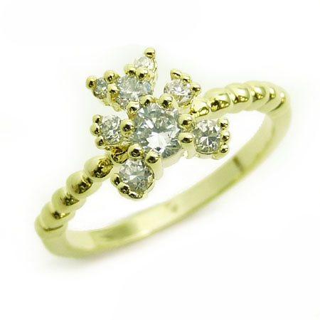『広告の品 』売り切ります ピンキーリング リング 指輪 レディース シンプル きらきら パーティーや結婚式、プレゼントにも 9号 13号【あす楽】ファッション アクセONE おしゃれ レディースジュ