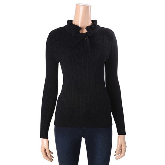ロエムプリルネクリボン装飾ニートRMKA711RQ3 ニット/セーター/韓国ファッション
