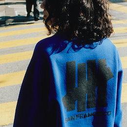《送料無料》 [UNISEX] サンフランシスコクルーネックロングtシャツ(4color)