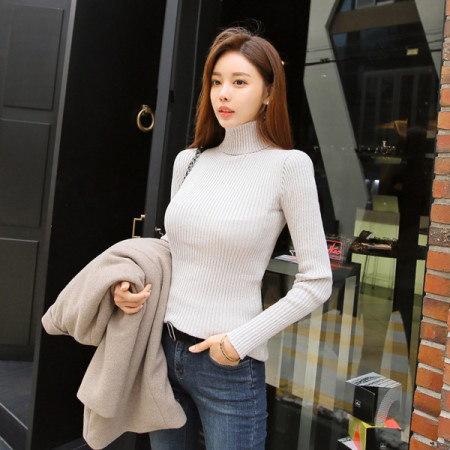 [Tom n Rabbit]冬の段ボールニットポーラニットスリムフィットニットティー、デイリーkorean fashion style