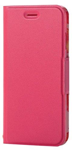 エレコム iPhone8 ケース カバー 手帳型 レザー ウルトラスリム サイドマグネット 花柄 for Girl iPhone7 対応 ディープピンク PM-A17MPLFUJPNDディープピンク1