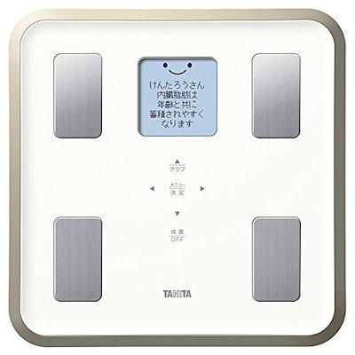 タニタ 体組成計 BC-810-WH(ホワイト) フルドット液晶の表示画面採用/顔イラストや応援メッセージ表示 BC-810-WH
