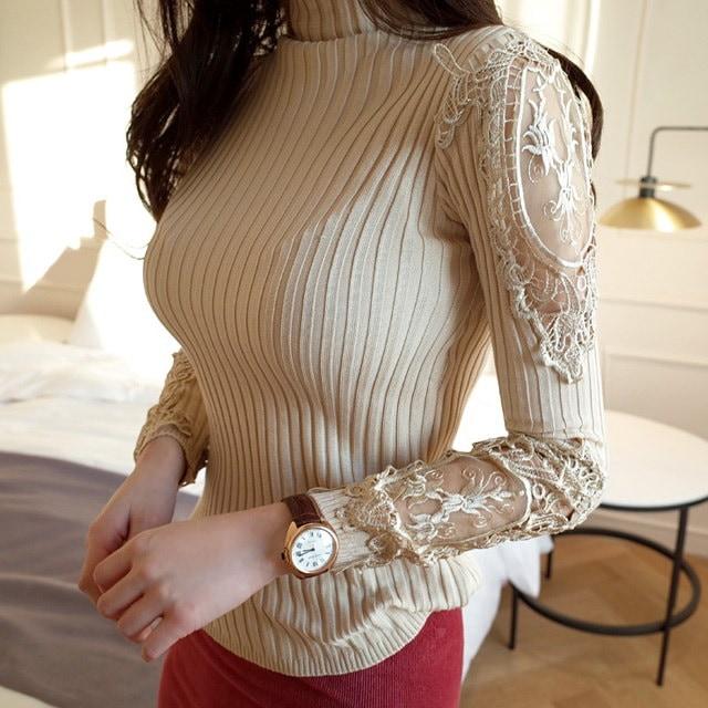 Versailles lace knit Korean fashion style