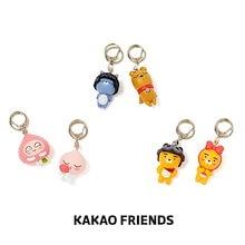 【Kakao friends】カカオフレンズフィギュアキーリング/Kakao friends figure key ring/6種・4.4x4.4x3.7㎝・KAKAO FRIENDS正規品