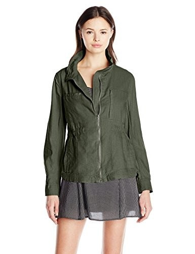 Unionbay Womens Bryce Utility Jacket, Fatigue Green, X-Large