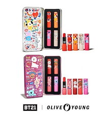 【BT21 X Olive young】3,799円▶3,299円-BT21ティントリップバームキット/BT21 tint lip balm kit/2種・ 3.5G * 4EA
