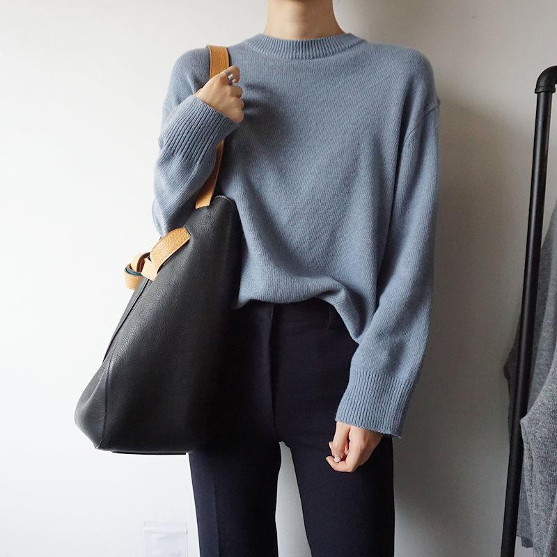 ラウンドキャッシュニット4col korea fashion style