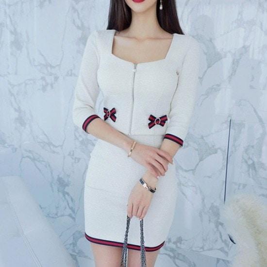 パビエンポムキン行き来するようにパビエンポムキン年末デートのツーピース塔スカート スーツワンピース/ 韓国ファッション