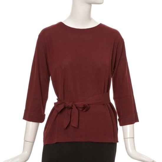 ケネス・レディーリボンニートEKPOGI01 ロングニット/ルーズフィット/セーター/韓国ファッション