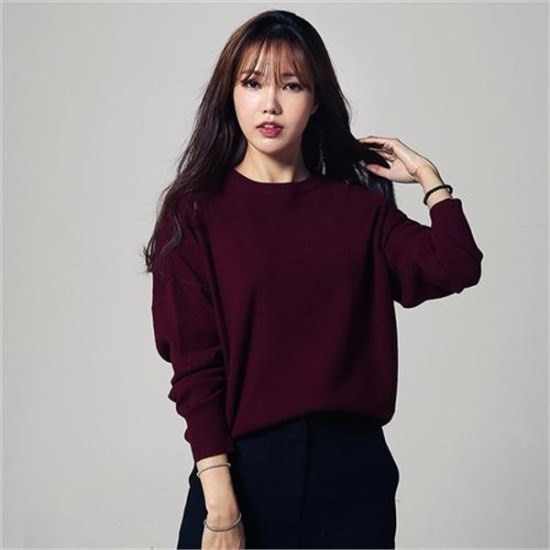 ・ジュード・ヴィヴィアン行き来するように・ジュード・ヴィヴィアンラウンドパフ小売ニット ニット/セーター/ニット/韓国ファッション