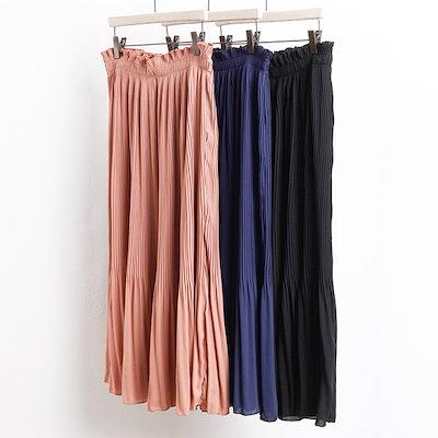 【送料無料】2041L805プリーツフレアロングスカートAYビッグサイズbigsize韓国スタイルマタニティルーズフィット