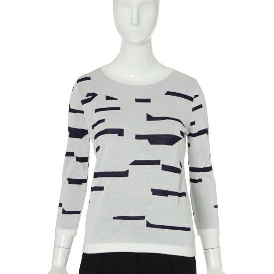 バレンシア女性衣類ジャカード・プリント・ニットV52MK70 パターンニット/ニット/セーター/韓国ファッション