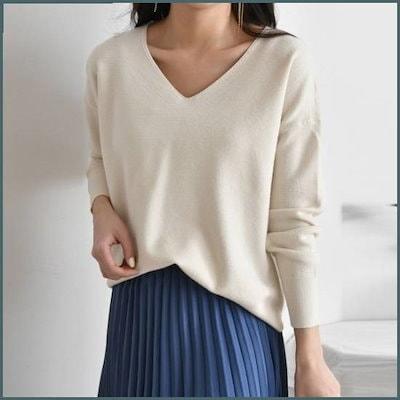 デイリールーズフィットVネクニート(5color) /ニット/セーター/ニット/韓国ファッション