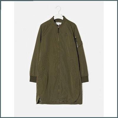 [ソン・アリ、ビーンポールスポーツ]カーキ女性ロングMA-1のジャケット(BO8839C03H) / 風防ジャンパー/ジャンパー/レディースジャンパー/韓国ファッシム