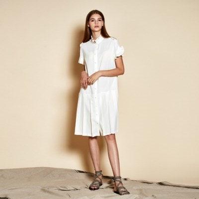 [韓国直送] [よりケイストーリー] Ruffle Pleats Dress_ Off White
