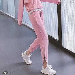 【Moving Peach】ヨガパンツ レディース/リボン ハイウエストパンツ 美脚 大きいサイズ ストレッチ レディース ジョガーパンツ