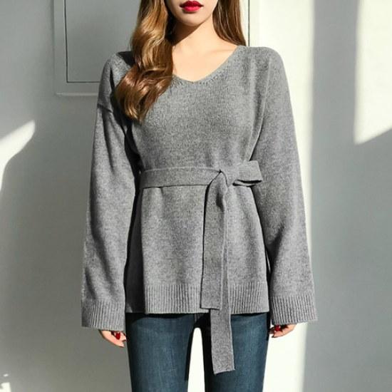 エイと非ブレンひもブイニットsrcLangTypeko ニット/セーター/ニット/韓国ファッション