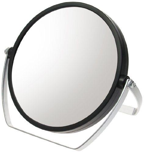 10倍拡大鏡付 両面スタンドミラー ブラック YL-1500ブラックH173×W183×D18mm