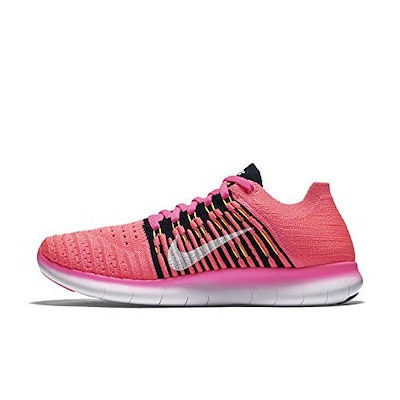 Women s Free Running Motion Flyknit Shoes, Pink - 6.5 B(M) US-831070-600  polo