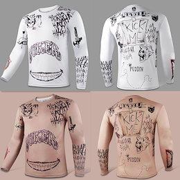 メンズプラスサイズ自殺分隊ジョーカー圧縮Tシャツハーレークインロングスリーブティートップスタイツ
