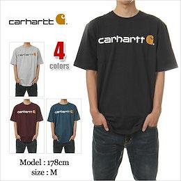 【メール便送料180円】 カーハート Tシャツ CARHARTT T-SHIRTS USAモデル メンズ 大きいサイズ carhartt ロゴ 半袖 プリント USA メール便対応