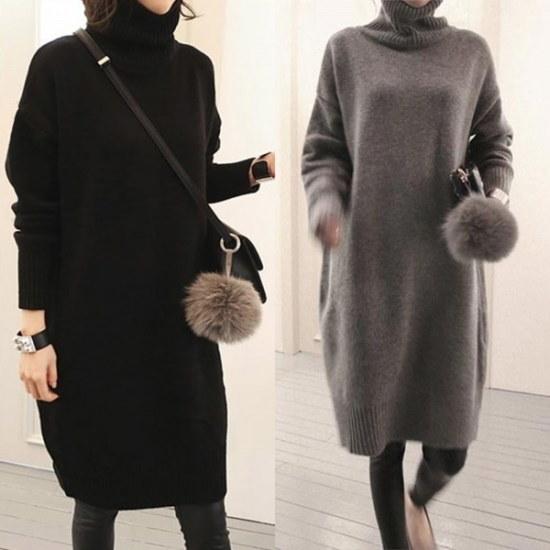 ウィスィモールCEトドゥルネクロングニートY801M2col6699size ニット・ワンピース/ 韓国ファッション