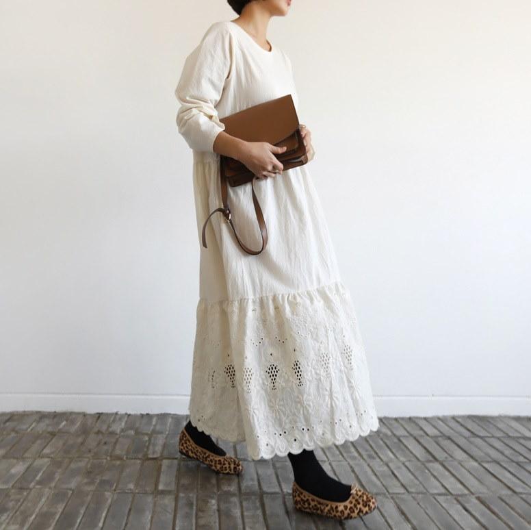[by yam] 刺繍レースワンピース