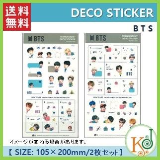 【K-POP・韓流】 【ゆうメール発送】 BTS DECO STICKER 2枚セット 防弾少年団 ステッカー(7070170801-44)