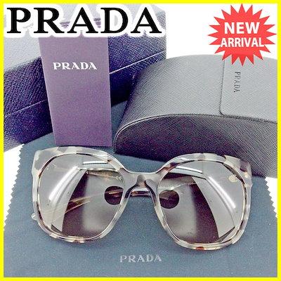 プラダプラダ PRADA サングラス アイウエア レディース メンズ 可 その他 グレー×ブラウン 人気 良品 【中古】 T1537