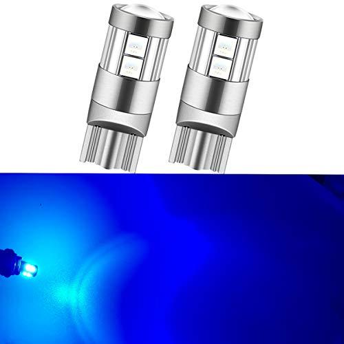 NAKOBO T10 LED 爆光 キャンセラー内蔵 車検対応 9個3030チップ12V-24V カー/バイク ポジション ナンバー灯/ルームランプ 一年保証/ブルー(2個入り)
