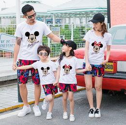 d7916e91add 親子ペア ディズニー ミッキーマウス t シャツ 韓国 レディースファッション ママと娘