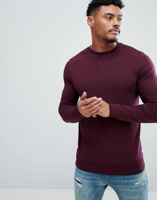 ASOS Lightweight Muscle Sweatshirt