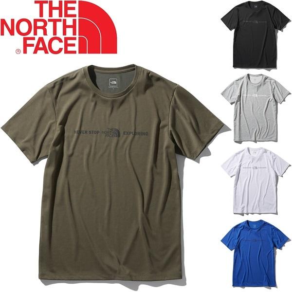 Tシャツ 半袖 メンズ ノースフェイス THE NORTH FACE エクスプロラトリーロゴティー/スポーツウェア ジム 半袖シャツ UVケア アウトドア トップス/NT32083