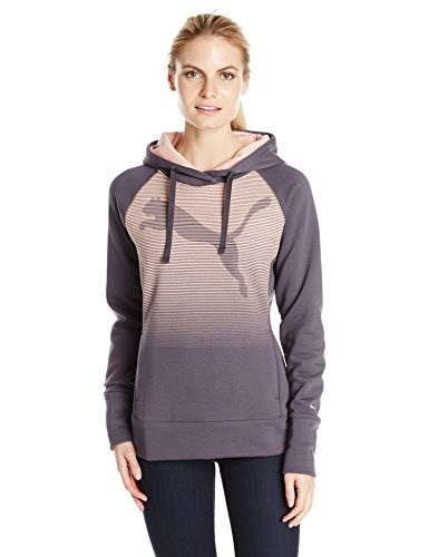 PUMA Womens Fleece Hoodie, Periscope, Small