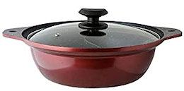 食卓鍋 鍋料理 仕切付き 2味鍋 2食鍋 二食鍋 ガラス蓋 ガラスふた ガラスぶた 200V IH対応 オール熱源対応 電磁調理器対応 仕切り鍋 仕切り しゃぶしゃぶ 焦げない 洗い 一人 ひとり し