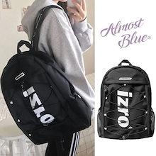 EXO着用 [ALMOSTBLUE] X IZRO BACKPACK バックパック 大容量 A4 バッグ リュック 韓国ファッション レディース メンズ 通学リュック 通勤バッグ