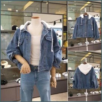 [バンエイク]バンエイクのジッパーフード・ショットのデニムジャケットVA95DJQ305D(VA95DJQ305D) /テーラードジャケット/ 韓国ファッション