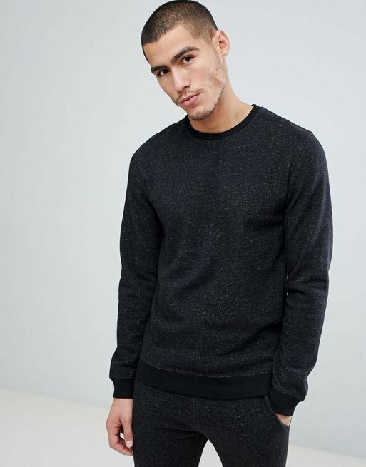 Only & Sons Sweatshirt With Fleck Marl