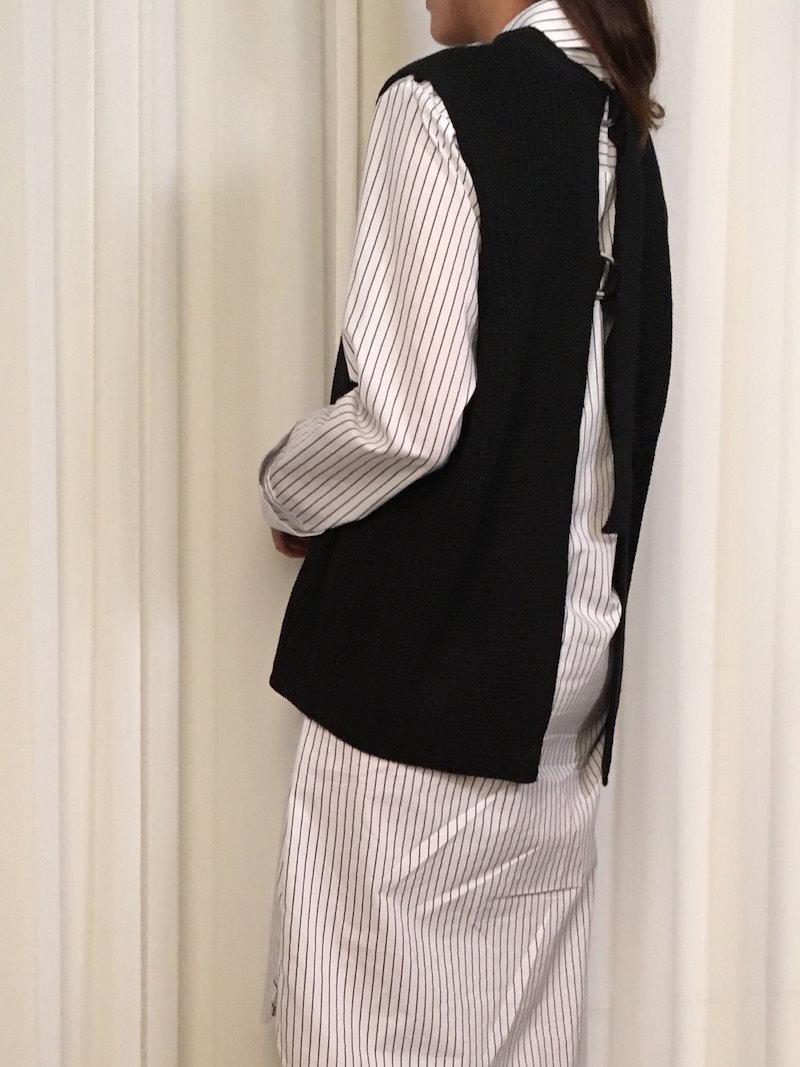マーティ第リングポイントベストkorea fashion style
