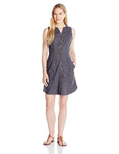 prAna Womens Reanne Dress, Coal, Small