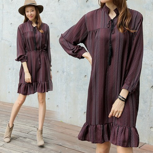 Maesis dot ruffle korean fashion style
